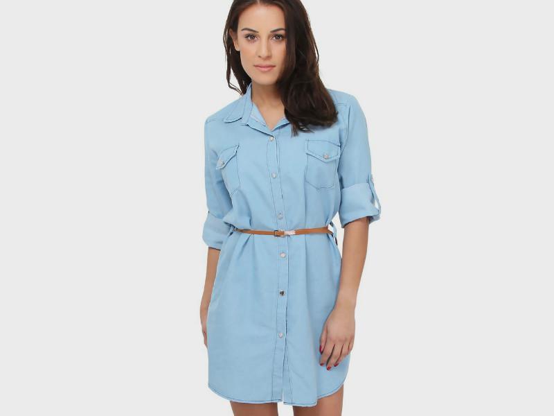 Платье-рубашка классика
